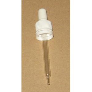 Compte Gouttes Capillaire DIN18 L90 Blanc Inviolable
