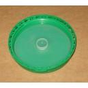 Couvercle DIN110 PP Vert Inviolable AutoJT avec obturateur intérieur