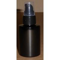 Sharp Cylindrique PET Noir 50ml pompe crème noire